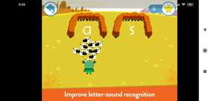 Teach Your Monster to Read - Phonics and Reading  Normaal 5,49 nu tijdelijk gratis in IOS en Android