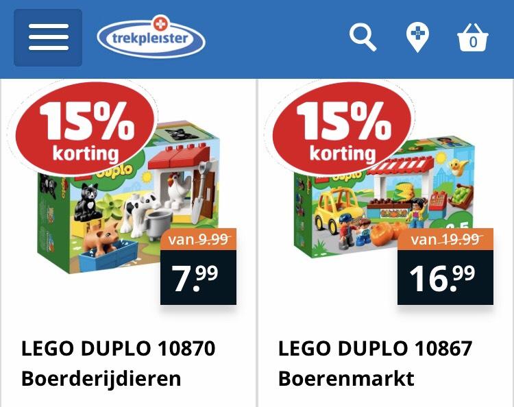 15% korting op Lego & Duplo @ Trekpleister