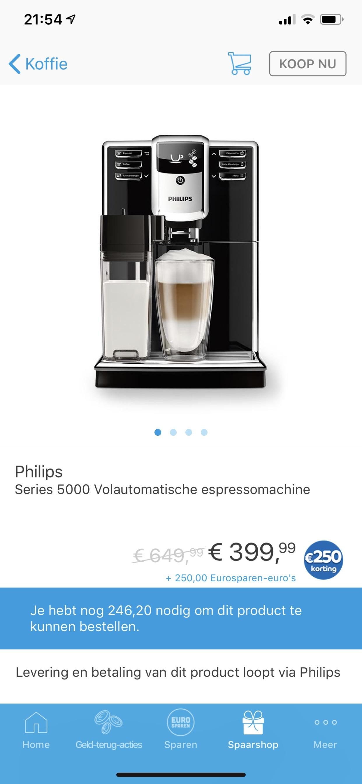 Philips Volautomatische espressomachines 5360/10 nu wel heel goedkoop