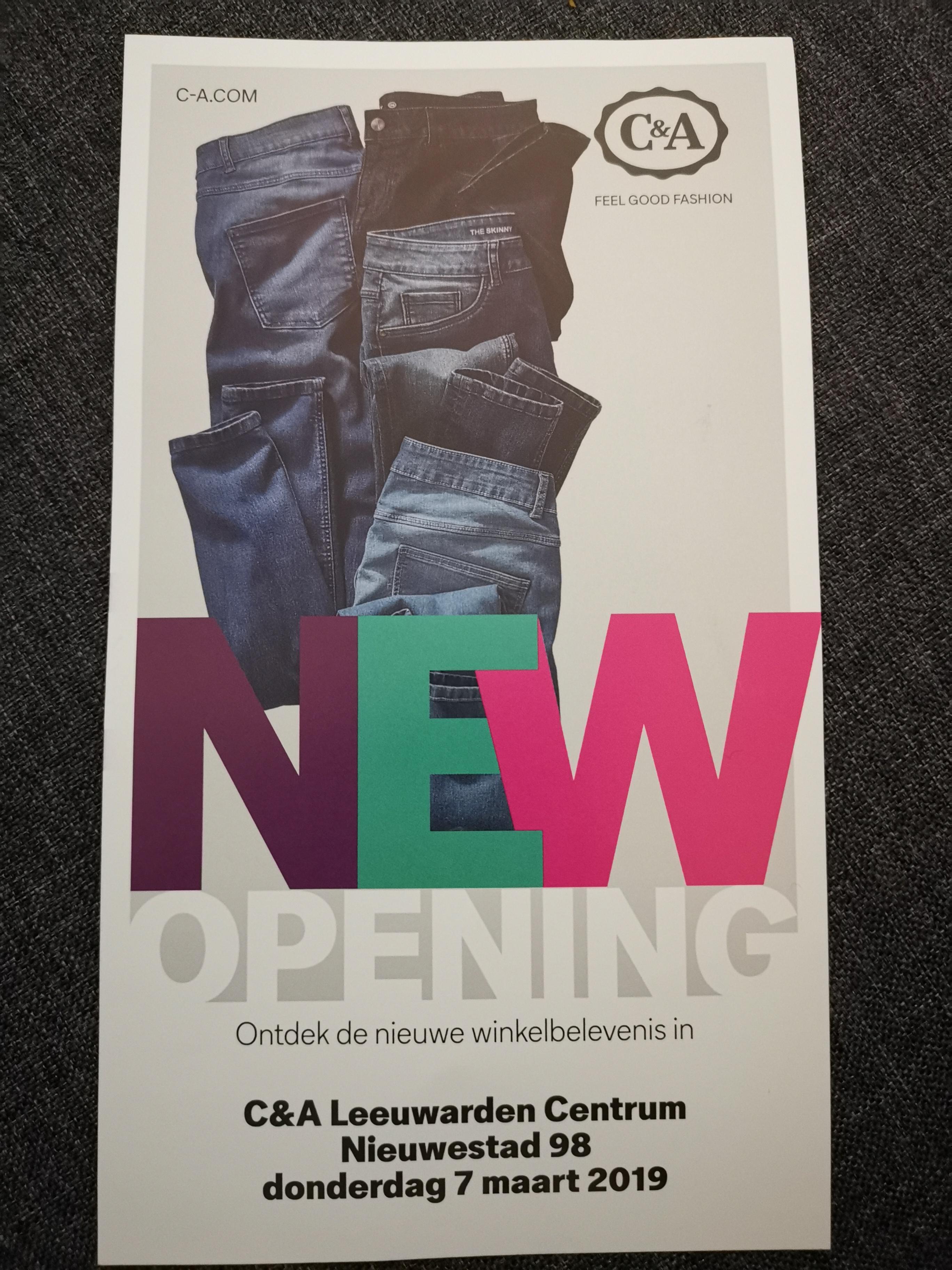 Openingsactie C&A Leeuwarden Centrum