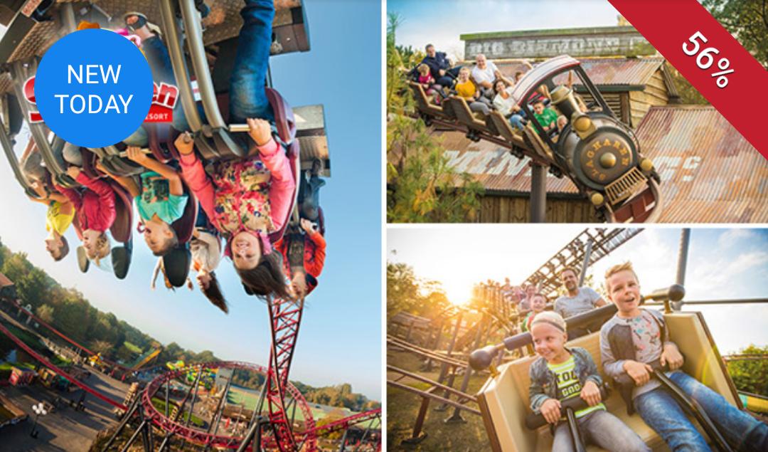 Naar attractiepark Slagharen voor €13,25 per persoon