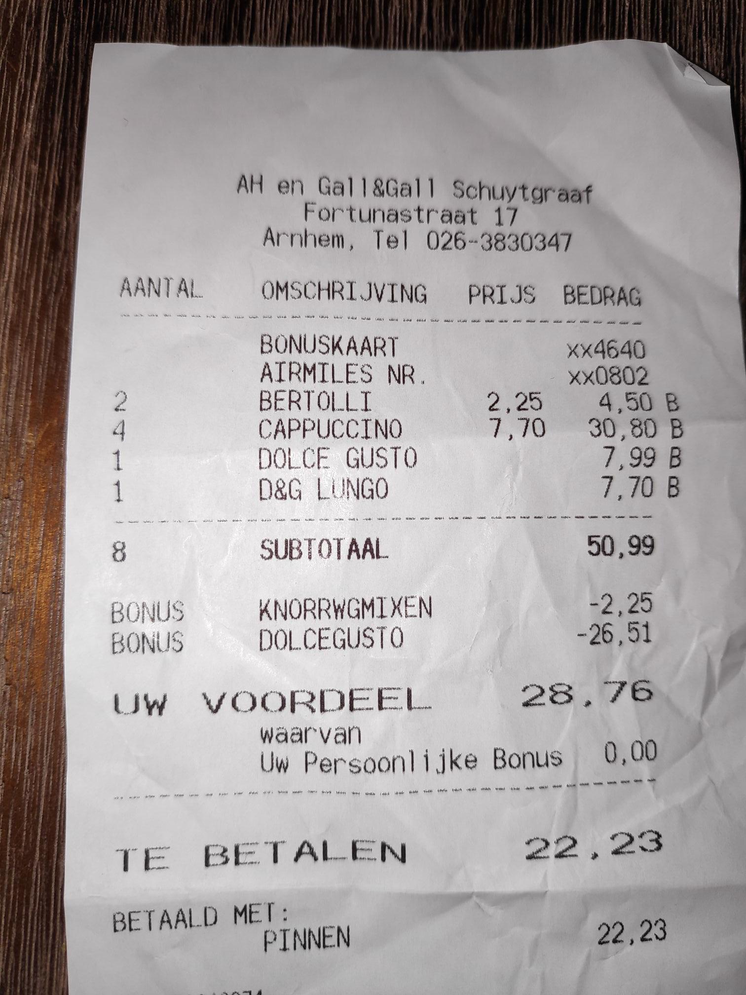 [Prijsfout] 3x Grootverpakking Dolce Gusto voor €9,99 werkt ook bij AH