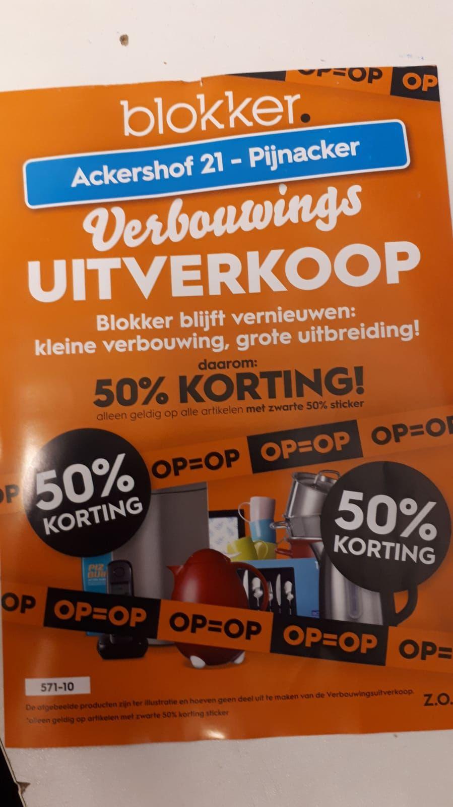 Lokaal Blokker Pijnacker 50% korting
