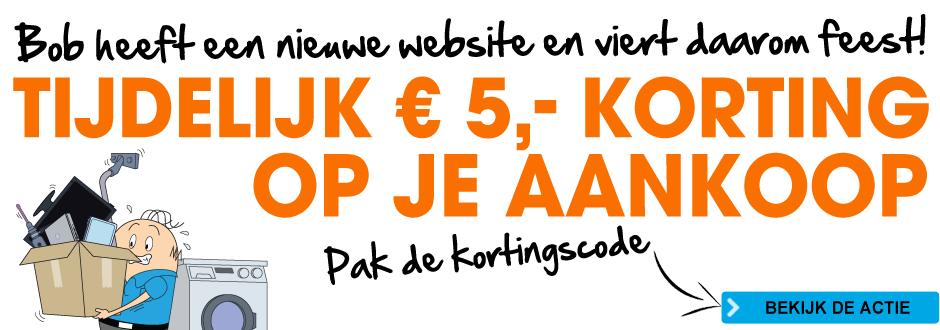 Kortingscode voor € 5 korting @ Bobshop