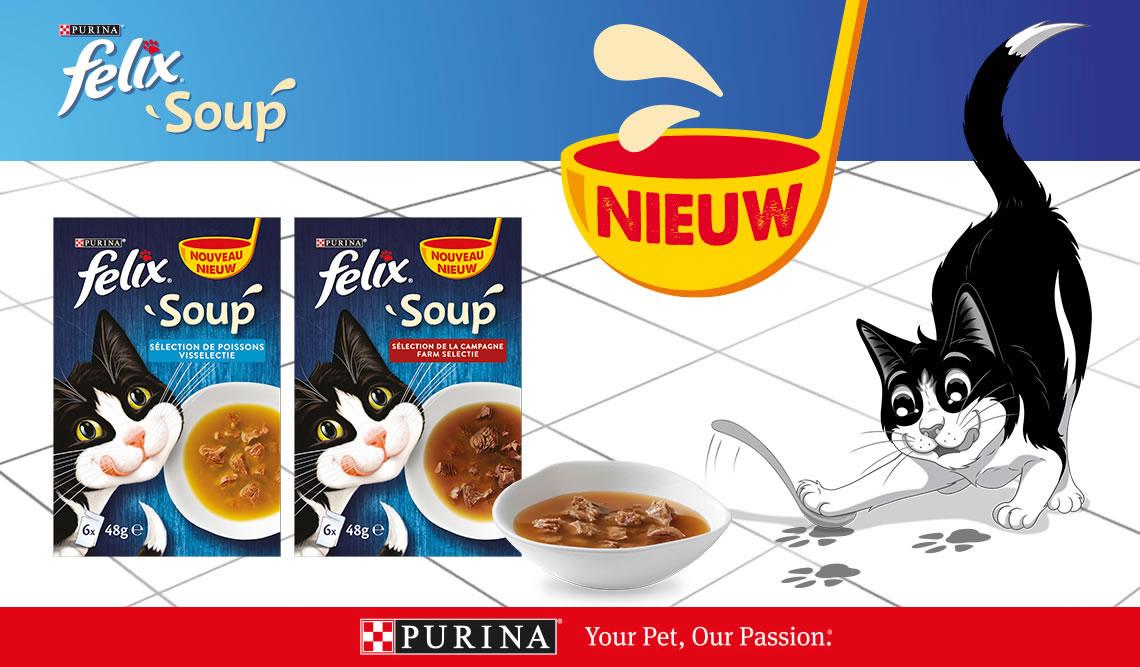 Ontvang gratis één portiezakje FELIX Soup