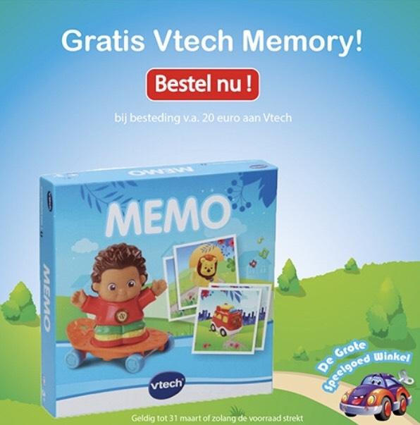 Gratis Vtech Memory bij besteding vanaf €20 @ De Grote Speelgoedwinkel