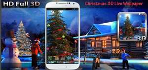 Christmas 3D wallpaper.