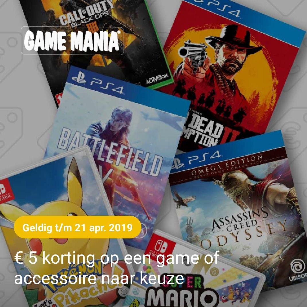 5 euro korting bij Game Mania via abnamro &meer