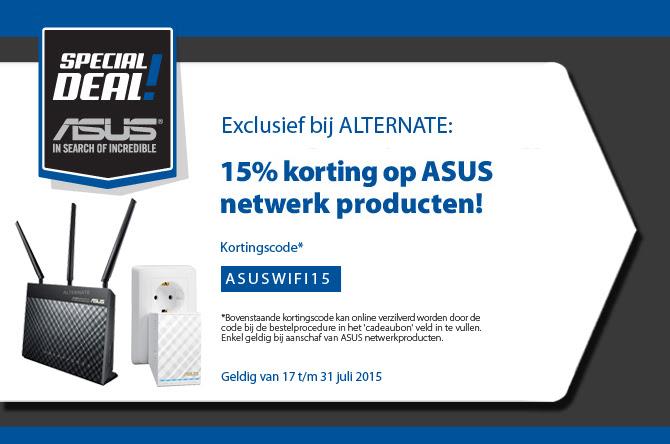 15% korting op ASUS netwerkproducten @ Alternate