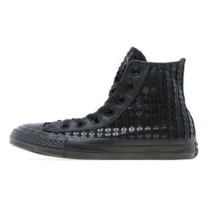 Converse All Star Hi  (dames) (Leather Sequin) voor €25 @ JD Sports