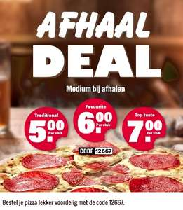 Traditional, Favourite of Top Taste voor 5, 6, 7 euro bij afhalen @ Dominos