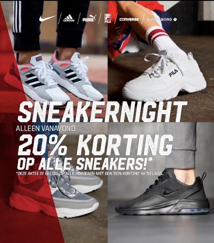 20% korting op alle sneakers @ Aktiesport