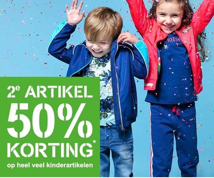Kids artikelen: 2e -50% korting + €5 extra (va €50) @ Scapino