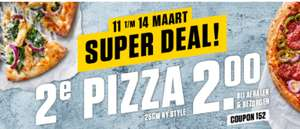 2e pizza 2 euro bij New York Pizza