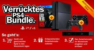 Playstation 4 + The Last of Us Remastered + extra controller + camera voor € 449 @ Media Markt Duitsland
