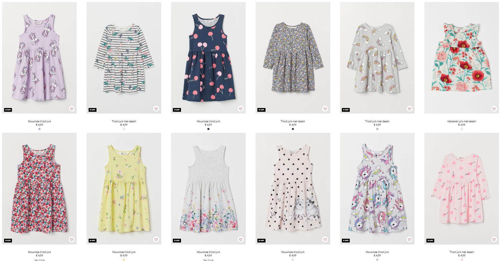Zomerjurkjes - nieuwe collectie - 12 soorten - €4,99 @ H&M