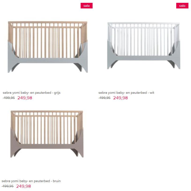 Sebra meegroei baby- / peuterbed -50% + €10 extra @ VTwonen