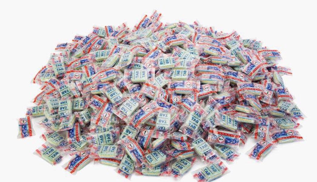 500 vaatwastabletten (1,5 jaar voorraad)