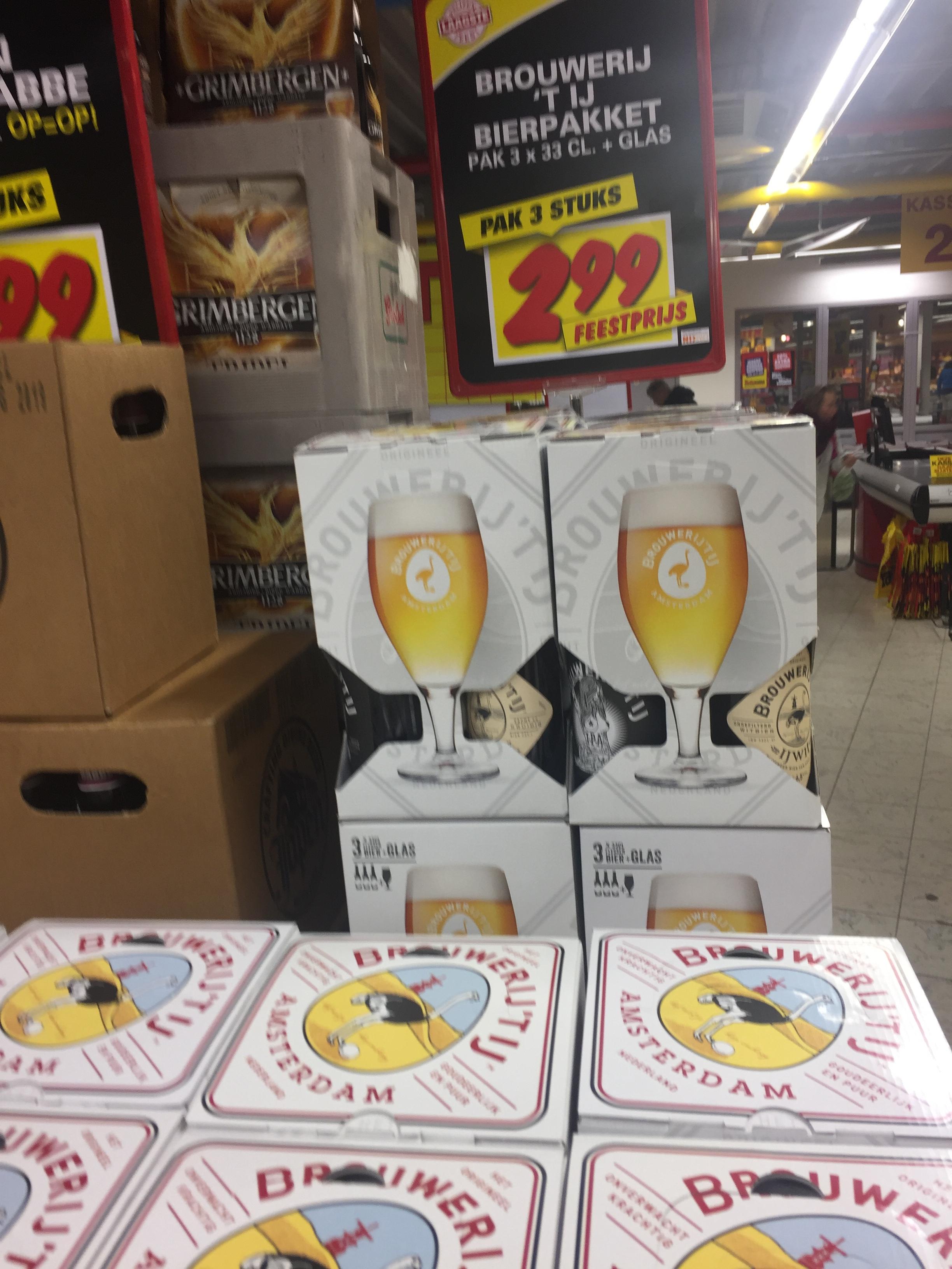 Bier van brouwerij het 't IJ 3-pack incl glas