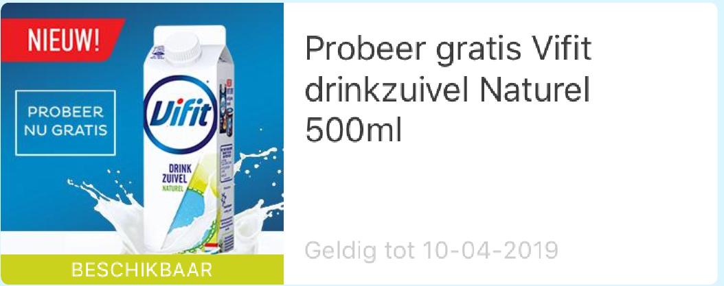 Probeer gratis Vifit drinkzuivel Naturel 500ml @eurosparen