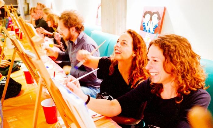Artpub: workshop schilderen in een café (tot 38% korting)