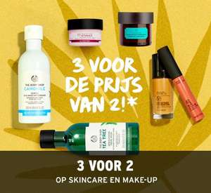 Make-up + skincare 3 = 2 met code  @ The Body Shop