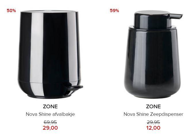 Zone pedaalemmer / zeepdispenser -68% (elders volle prijs) @ Hudson's Bay