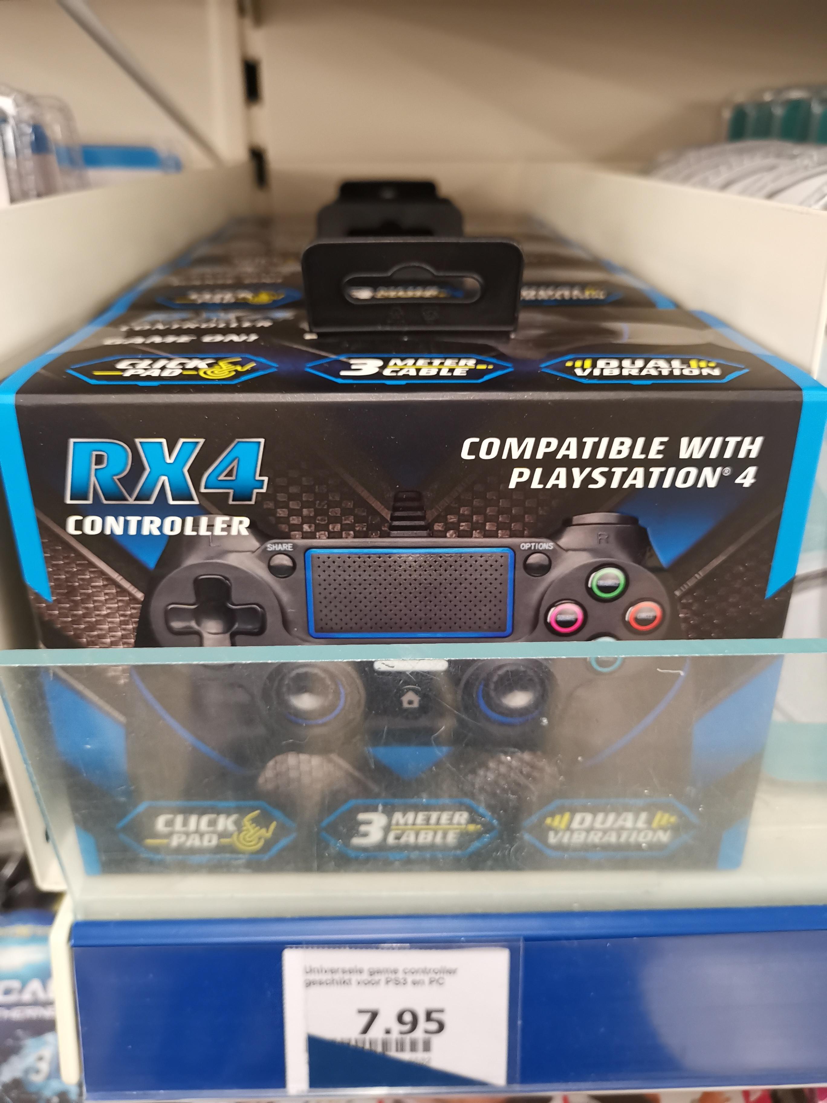 RX4 Controller met 3 meter USB kabel, touchpad en PS4 Compatible