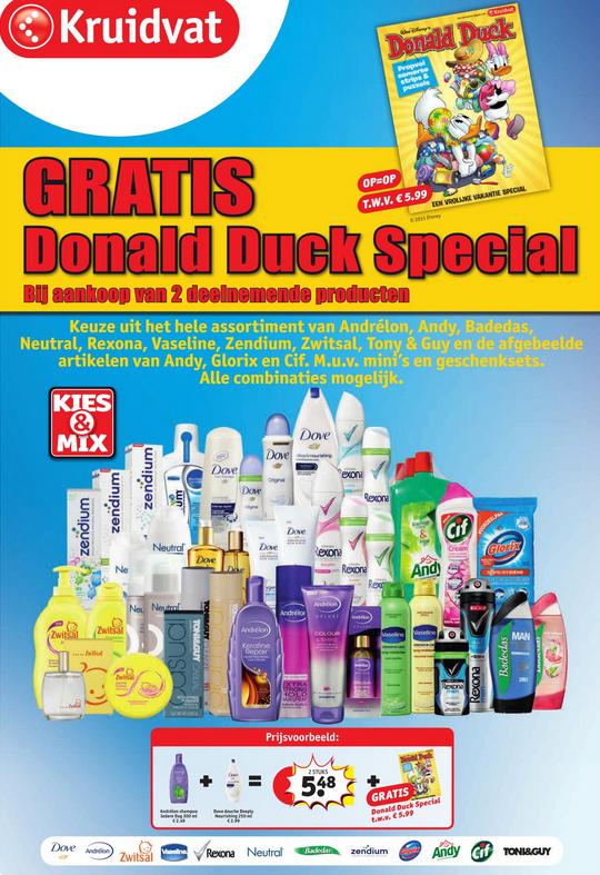 Gratis Donald Duck Special t.w.v. €5,99 bij twee actieproducten @ Kruidvat (maandag)