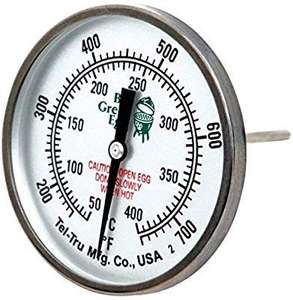 Originele Big Green Egg Grote Dome thermometer