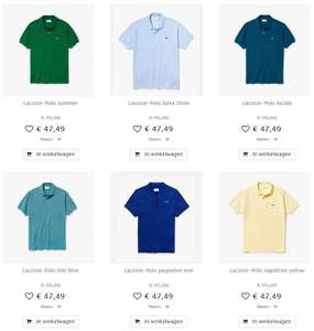 Lacoste (heren) -50% (o.a. polo's) @ Maison Lab