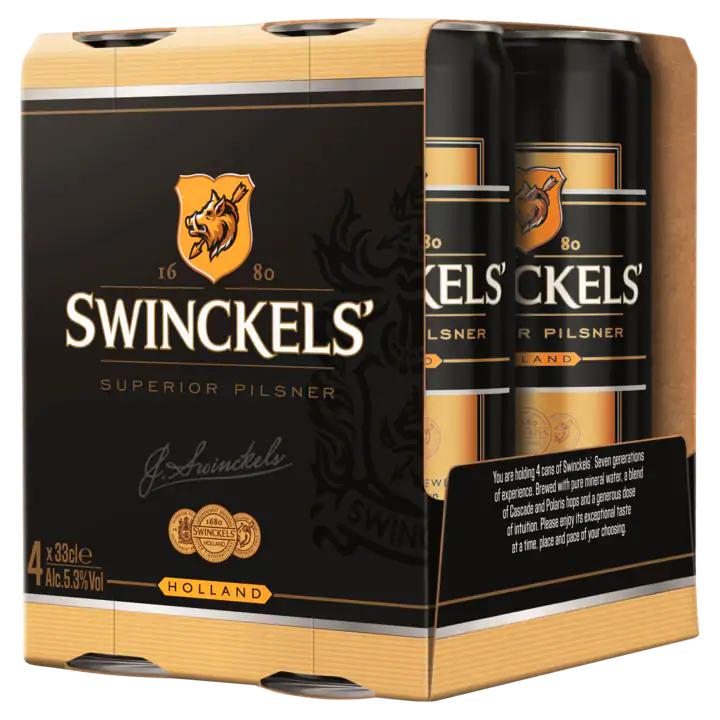 Swinckels premium pilsener 4 blikjes