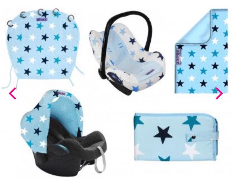 Van €95 naar €24,99 | Dooky set blue stars