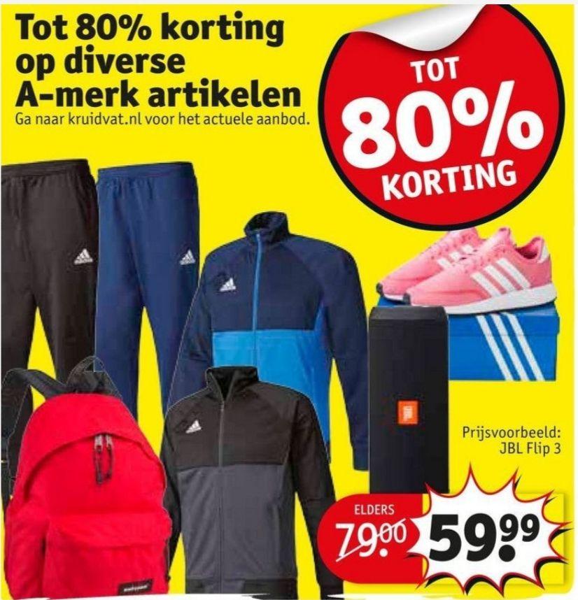 A-merk festijn: tot 80% korting op schoenen(o.a. LA Gear), kleding, parfum, electronica, speelgoed en meer @Kruidvat.nl/Trekpleister.nl