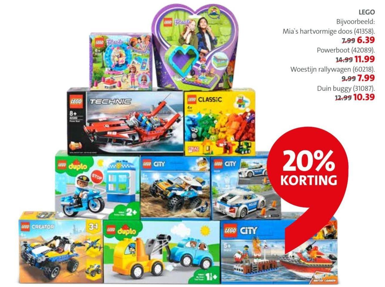 20% korting op LEGO® + DUPLO® @Bruna