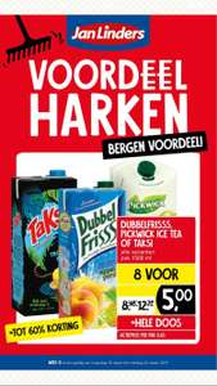 Taksi, Dubbel Fris, Pickwick Ice Tea 8 voor €5,- @ Jan Linders