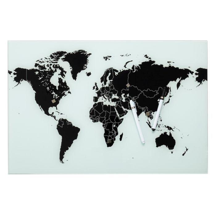 80% korting   Vestbjerg magneetbord wereldkaart (i.p.v. €22,95) + gratis linnen tas cadeau @vtwonen