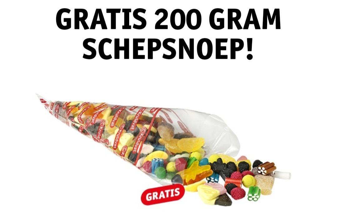Gratis 200 gram schepsnoep bij elke online bestelling die je afhaalt in de winkel @Kruidvat