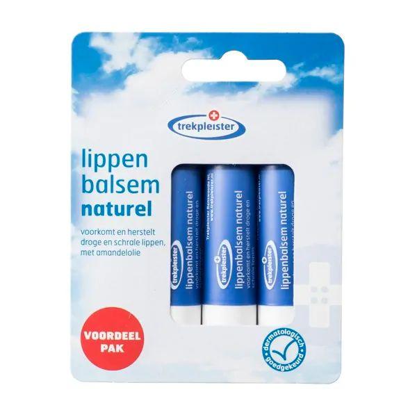 6 Trekpleister naturel lippenbalsem voor €1,59 @Trekpleister