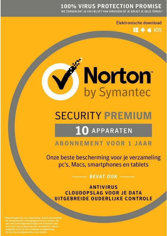 Norton Security Premium | 10 apparaten | 1 jaar