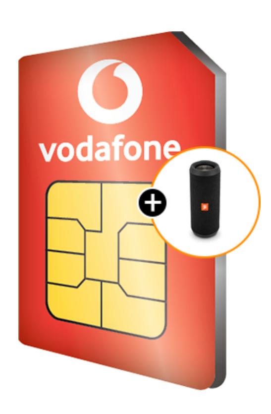Gratis JBL Flip 3 Stealth Edition bij een Vodafone Red Sim Only (2 jaar nieuw/verlenging)