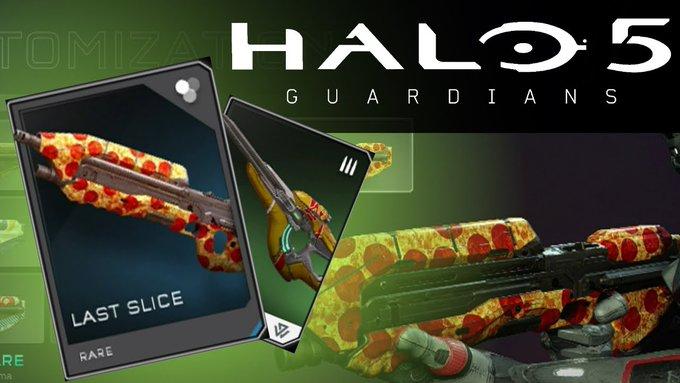 Gratis Pizza skin voor Halo 5 spelers @Xbox