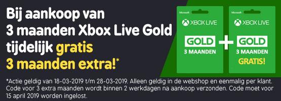 Xbox Live 3 maanden Gold + 3 maanden gratis @ Game Mania