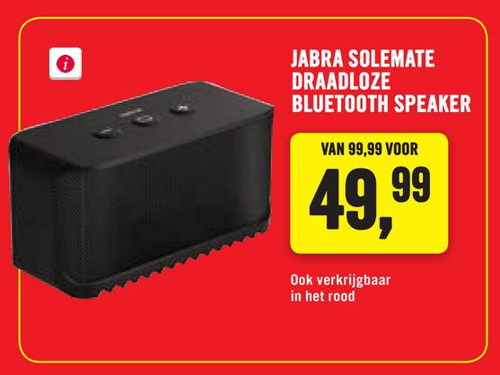 Jabra Solemate Mini Bluetooth speaker voor €49,95 @ Phonehouse
