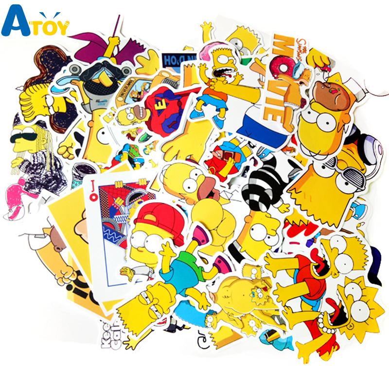 50 stuks De Simpsons Stickers @Aliexpress