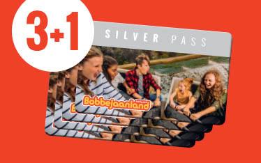 4 Silver Pass abonnementen Bobbejaanland voor de prijs van 3