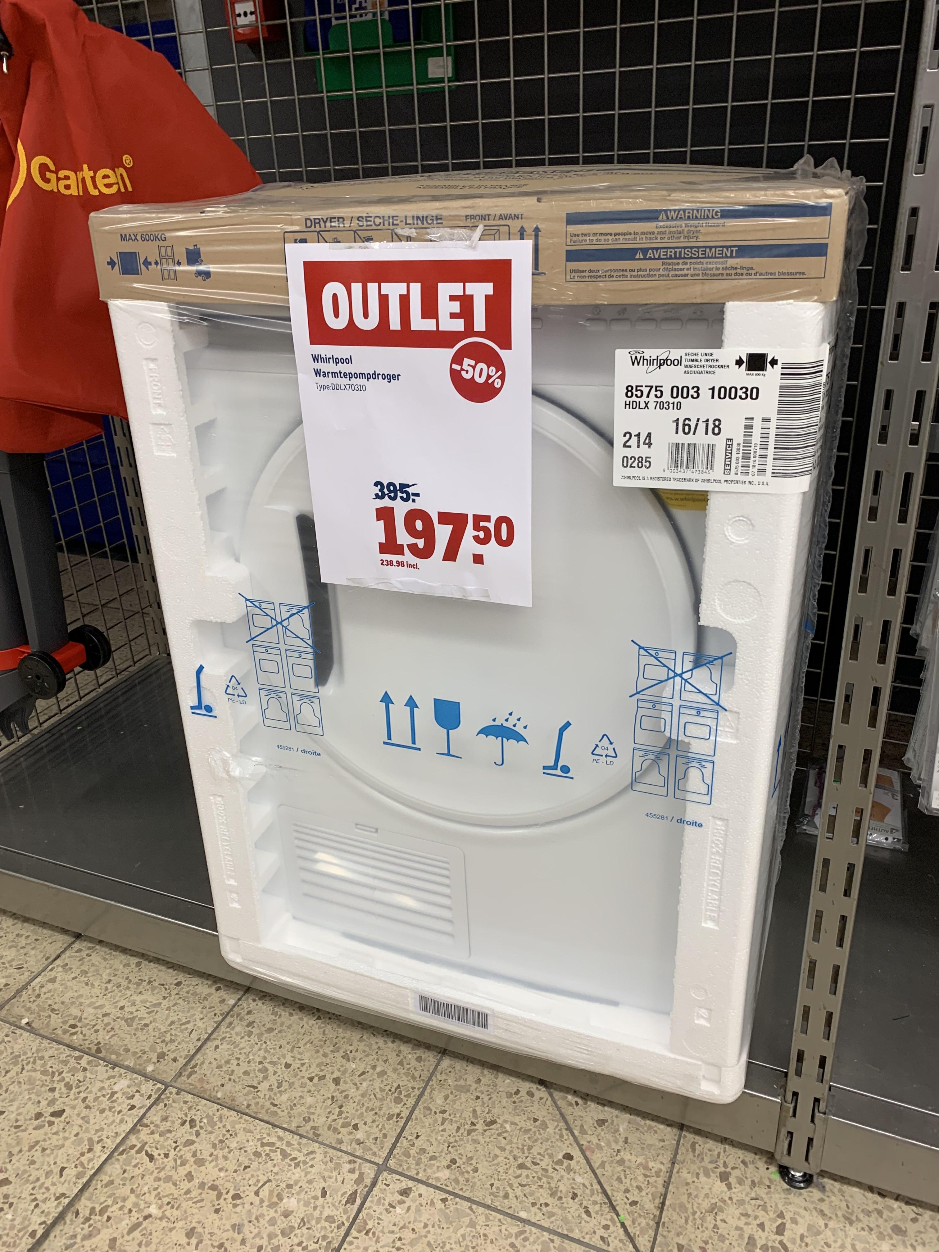 Whirlpool warmtepomp droger voor maar €238,98 bij Makro in de outlet