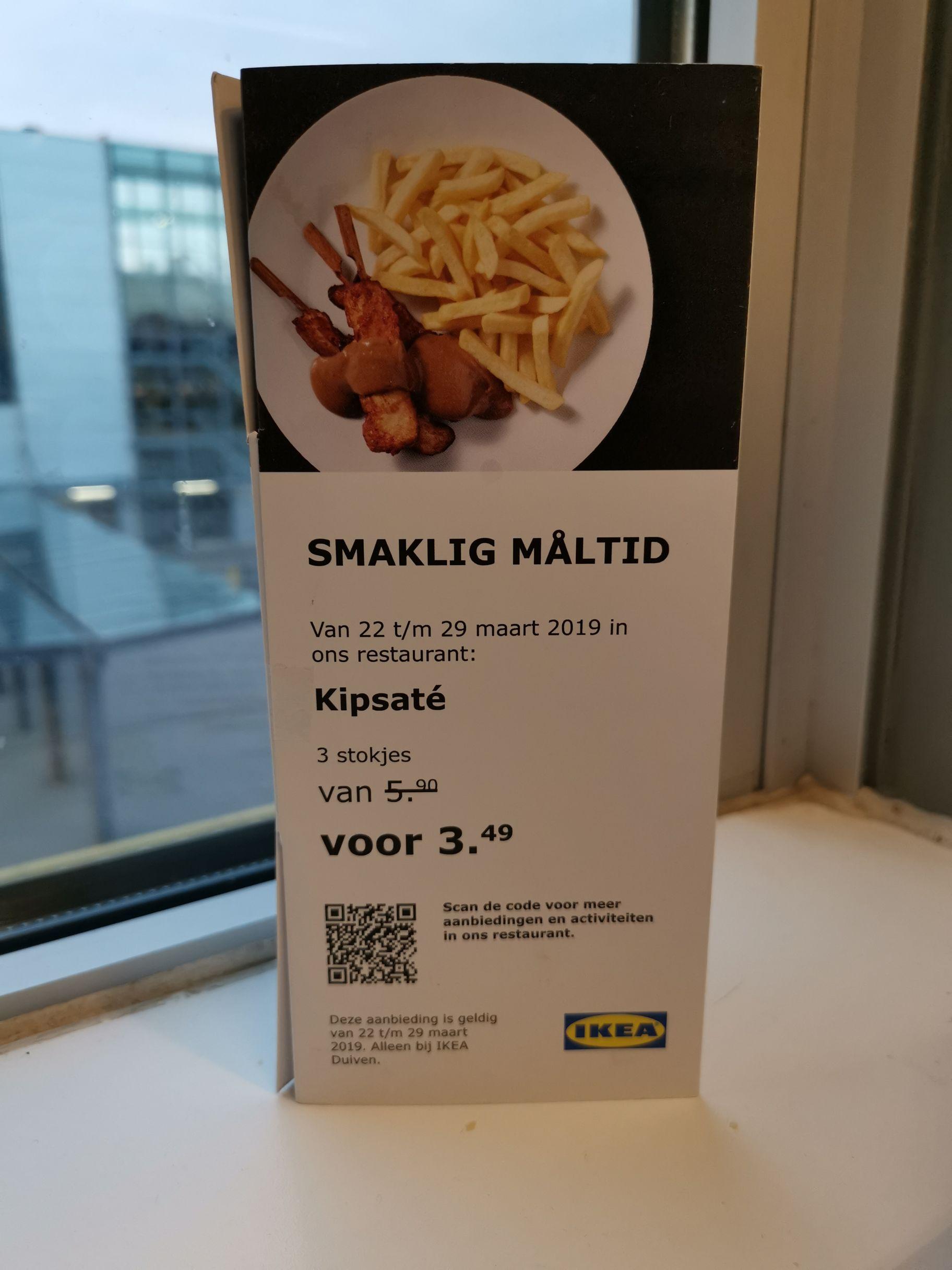 Kipsaté met friet @Ikea Duiven