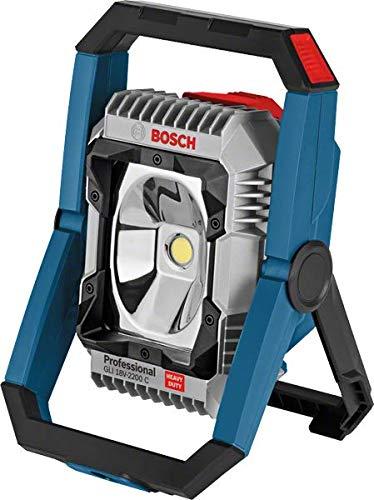 Bosch Professional accu bouwplaatslamp GLI 18V-2200 C (zonder accu, 14,4/18V, max. Helderheid 2200 lumen, in doos)