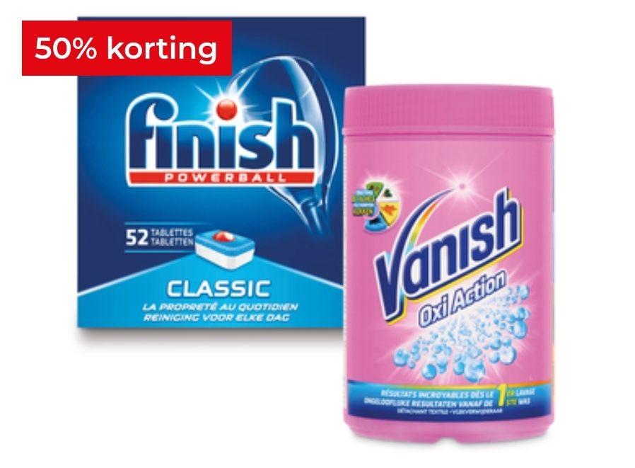 Alle Finish of Vanish 50% korting!